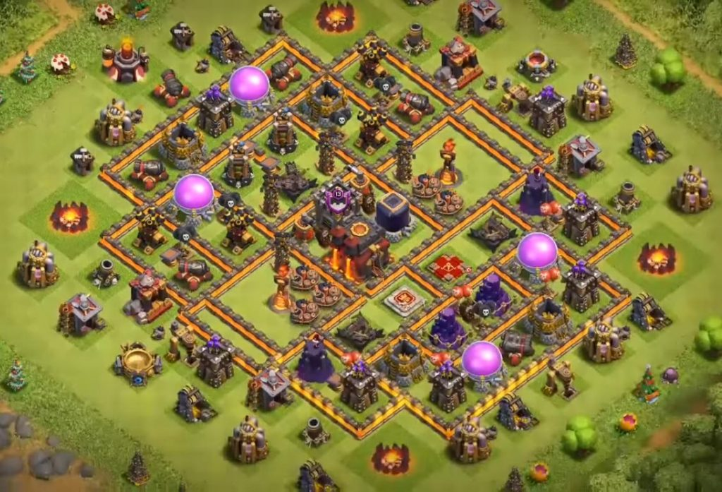 Clash of Clans TH10 War Base & Farming Base Layouts 2018